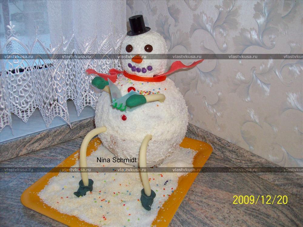 Торт снеговик рецепт и фото