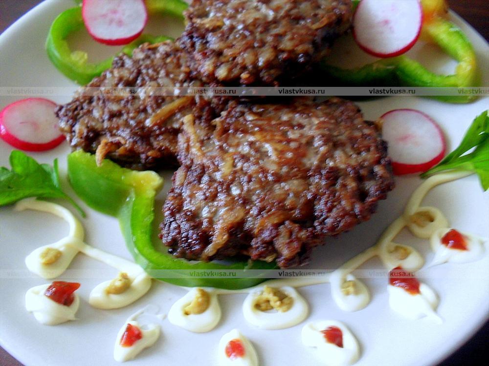 Печеночные котлеты с рисом рецепт