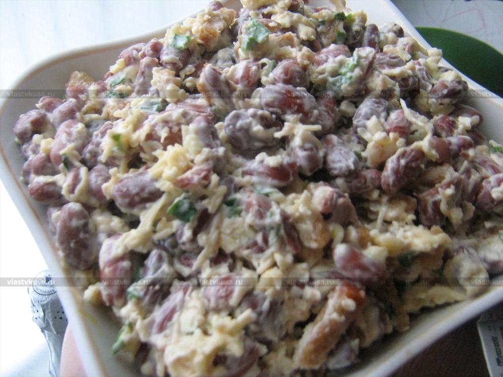 салат из фасоли с сыром рецепт