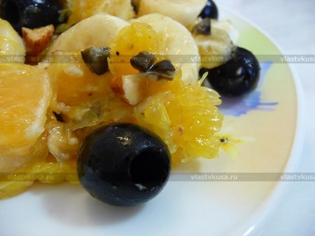 Салат из бананов и апельсин