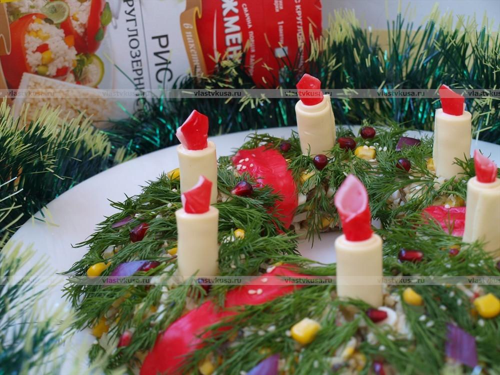 Рождественский венок  пошаговое фото 148